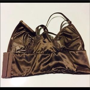 Victoria's Secret Intimates & Sleepwear - NWT VS Satin Mocha Bralette